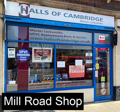 Mill Road Locksmith Shop | Cambridge Locksmith Shop | Key Cutting | Replacement Locksmith | Halls of Cambridge